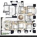 [竹北] 聚合發建設「香禔」(大樓) 2013-06-13 021 C、D標準層家配參考圖