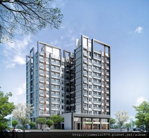 [新竹延平] 金連城建設「市中心」(大樓) 2013-08-30 001 外觀透視參考圖