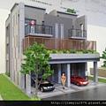 [竹東上館] 富廣開發、源富建設「水木青」外觀模型(透天) 2013-11-04 004 D,E區面寬5.2米
