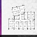 [新竹北門] 中郡開發「寓見愛」(大樓) 2014-01-17 007 3F-9F平面參考圖