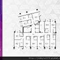[新竹北門] 中郡開發「寓見愛」(大樓) 2014-01-17 008 10F平面參考圖