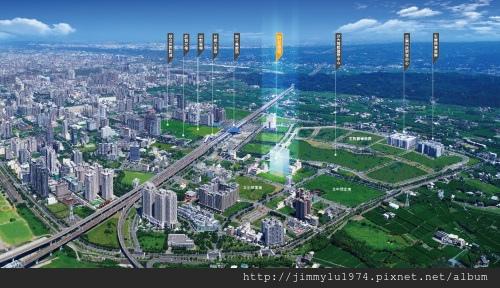 [高鐵生醫] 群新建設「群新墨客」(大樓) 2014-02-25 002 空拍合成圖