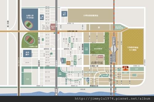 [高鐵生醫] 群新建設「群新墨客」(大樓) 2014-02-25 004 位置參考圖