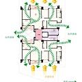 [新竹巨城] 正群建設「天青硯」(大樓)平面採光通風參考圖 2014-03-01
