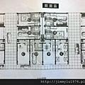 [芎林綠獅] 遠錦建設「馥園」(透天) 2014-05-15 006 1F全區平面參考圖(翻拍)