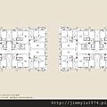 [竹北縣三] 仁發建築開發「仁發上景」(大樓) 2014-06-16 008 標準層平面參考圖