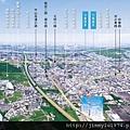 [竹北台元] 竹風建設「竹風美麗城」(大樓)2014-10-13 空拍合成參考圖