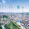 [竹北台元] 竹風建設「竹風美麗城」(大樓)2014-10-13 空拍合成參考圖高清版