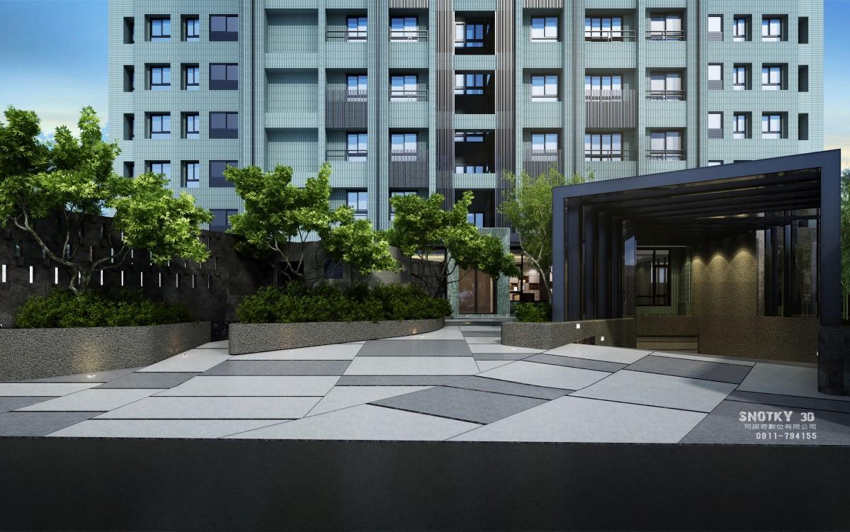 [竹東自強] 喬立建設-三號公寓(大樓)2015-03-10 010 車道
