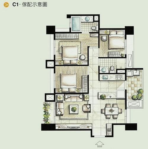 名發建設「三境」74 C1家配圖.jpg