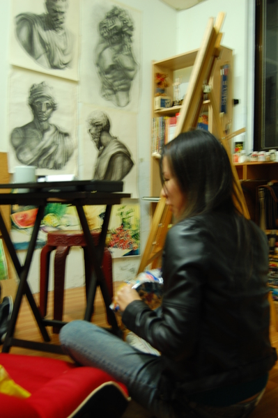 畫室中的Kate