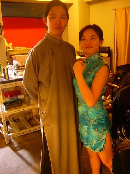 長袍男與旗袍女