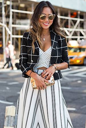 song-of-style-checked-blazer-crop-top-nyfw