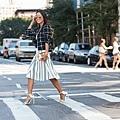 song-of-style-checkered-blazer-stripe-skirt