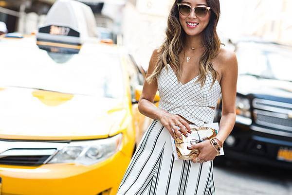 song-of-style-window-pane-crop-top-gold-clutch-nyfw