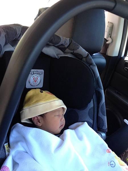 第一次坐車
