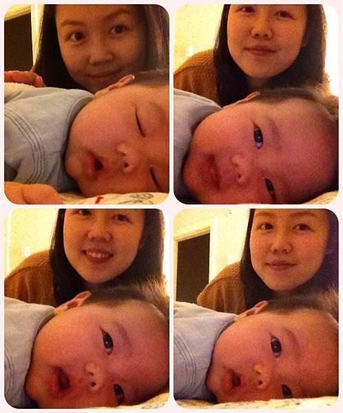 睡覺偷笑被媽媽抓包