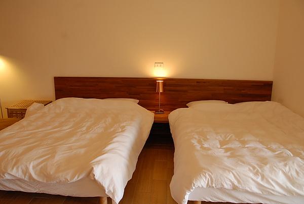 舒適的雙人床