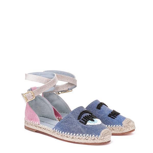 【Chiara Ferragni】FLIRTING珠飾繫帶草編鞋 NT$12600.JPG