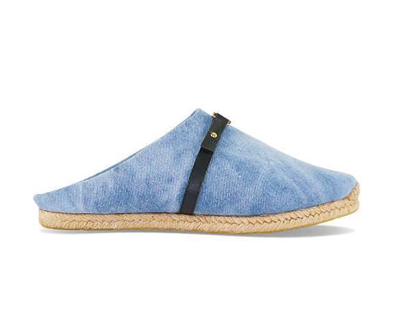 【WENG COLLECTION】牛仔金屬扣飾方便鞋(側) 淺藍 NT$4280.jpg