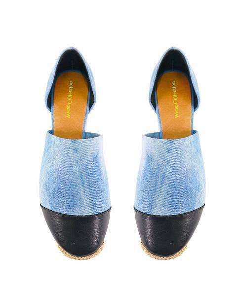 【WENG COLLECTION】牛仔拼接休閒鞋 淺藍 NT$3980.jpg