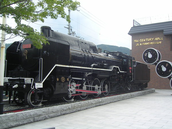 嵐山車站旁的小火車