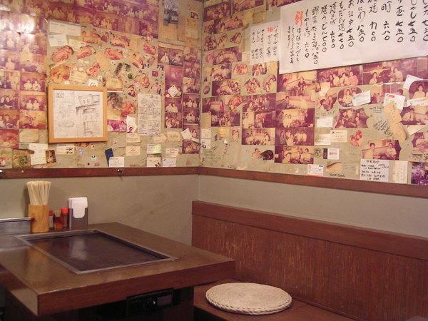 大阪燒店裡的佈置