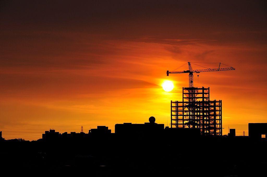 竹科的夕陽