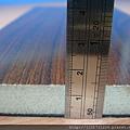 鋼琴面拍立扣-紅檀香-側面照1-超耐磨木地板/強化木地板