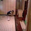 簡約無縫木地板-歐洲白橡-11101003施工中-八里 超耐磨木地板/強化木地板