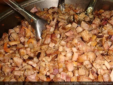 20120318-01材料-07蘿蔔絲+蝦米+肉絲+香菇+豬肉+油蔥酥02
