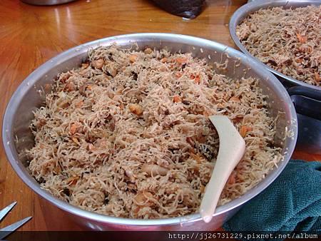 20120318-01材料-07蘿蔔絲+蝦米+肉絲+香菇+豬肉+油蔥酥03