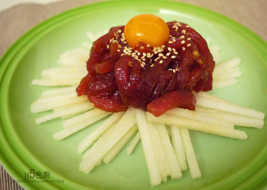 韓國涼拌生鮪魚