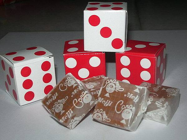 Dice sweets