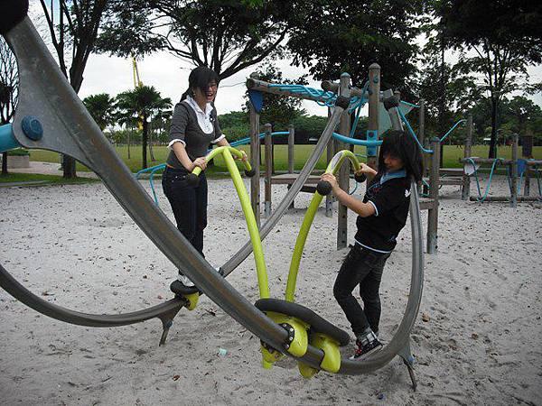 半圆形的游乐设施
