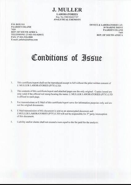 石頭堡特級初榨冷壓橄欖油-國際歐盟橄欖油檢驗報告