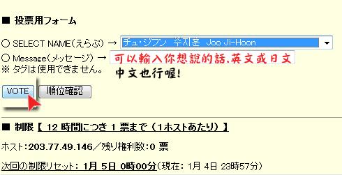 e-vote Japan人氣投票4