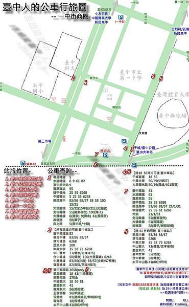臺中公車行旅圖_一中街篇(2011/09)