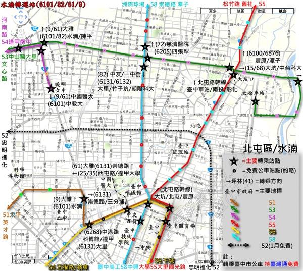 北屯區TTJ路網圖