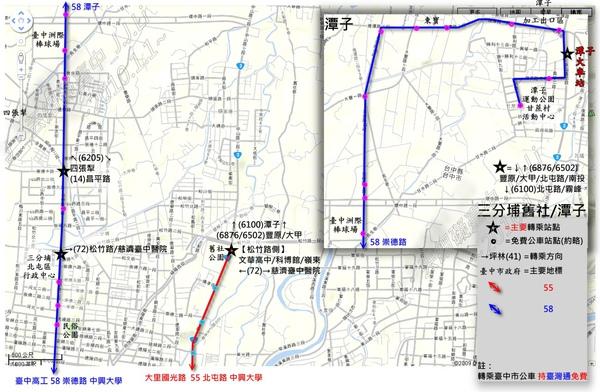 松竹路-潭子區TTJ路網圖