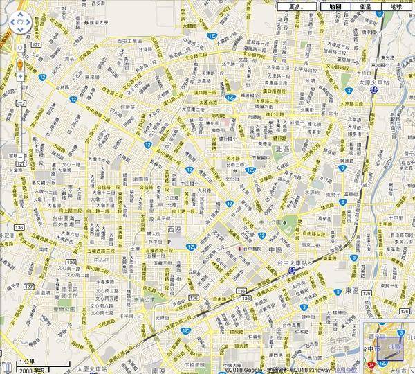 台中市中心街道