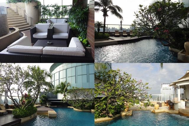 洲際飯店游泳池1
