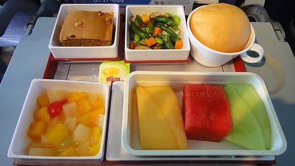 去程的飛機餐