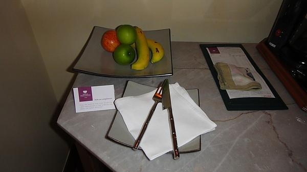 飯店附贈的水果
