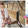 日韓衣舍-2013新款 春天氣息浪漫花朵印花 雪紡連衣裙配腰帶