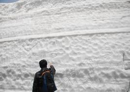 雪壁上留言