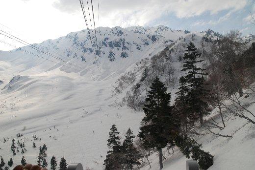白雪覆蓋的立山