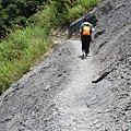 新竹尖石司馬庫斯碎石坡斷崖