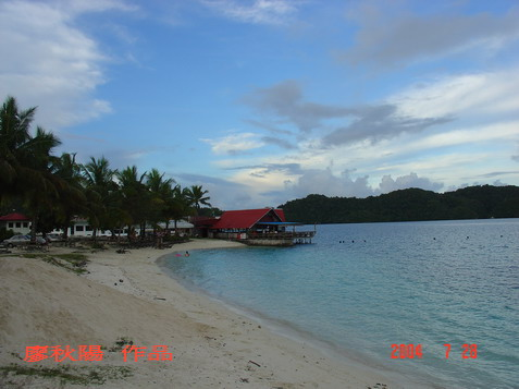 帛琉碼頭海灘