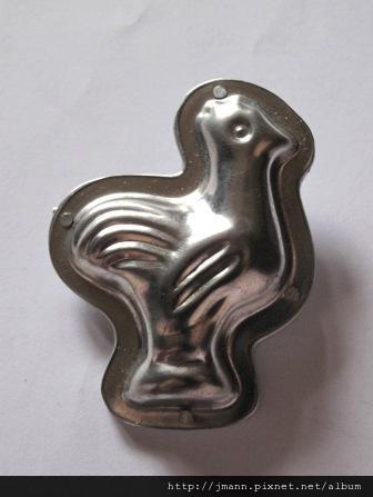 Chocolate mold Brooch- Rooster.JPG